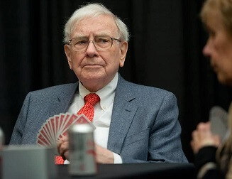 Warren Buffett, the American investor, playing Bridge