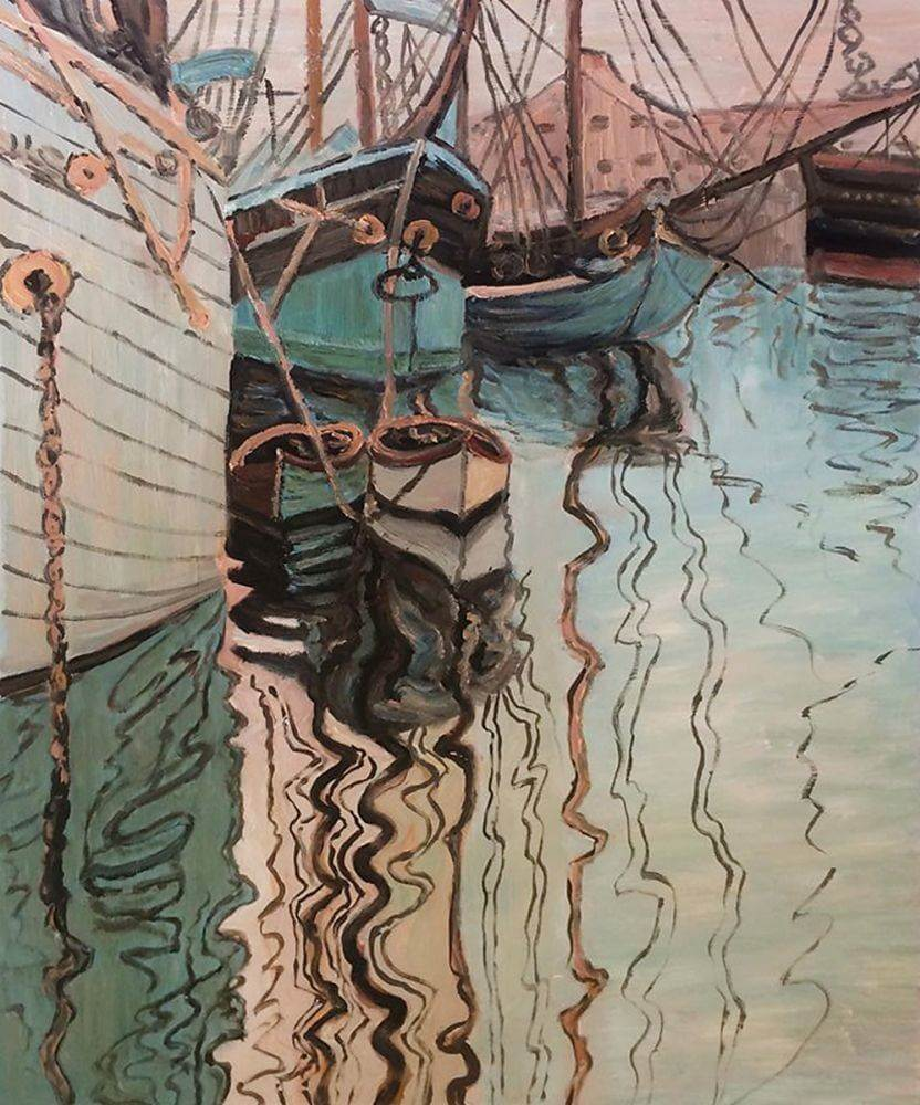 Harbour of Trieste, 1907 by egon schiele, austrian impressionist painter
