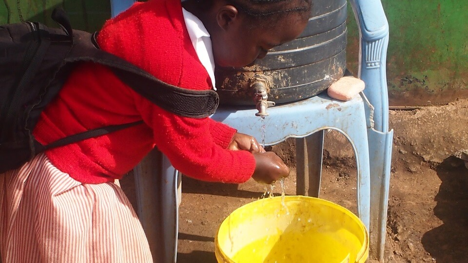 Porridge and Rice provides clean water and soap for handwashing at all partner schools