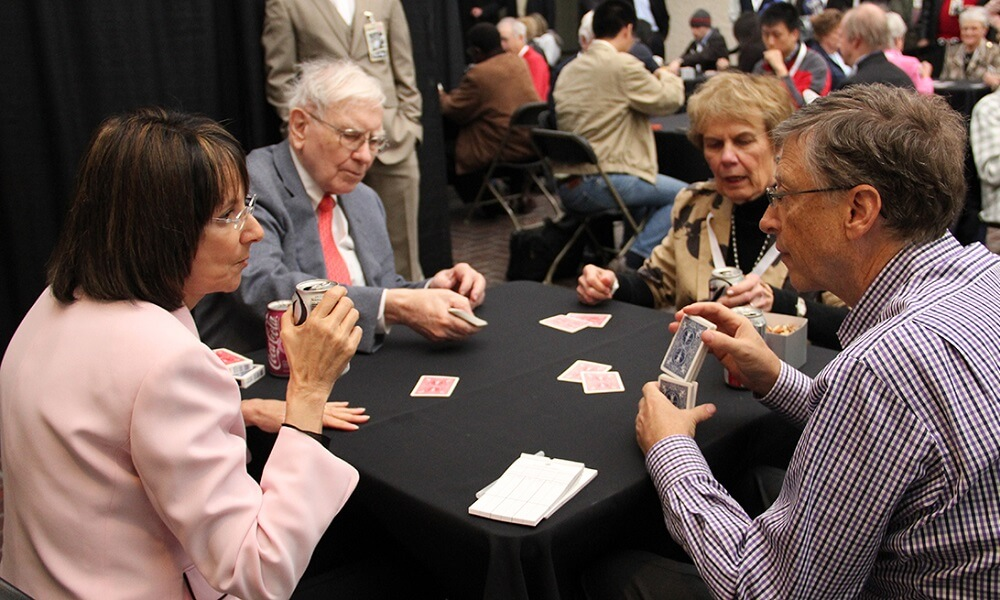 Bill Gates and Warren Buffet play Bridge on a regular basis