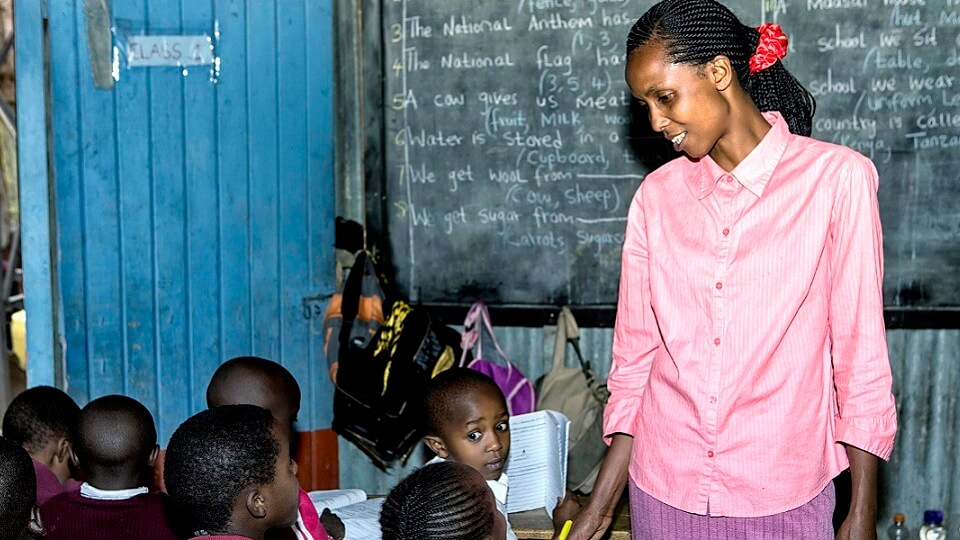 teacher Grace deputy head of Lizpal school in Ngando in the Nairobi slums