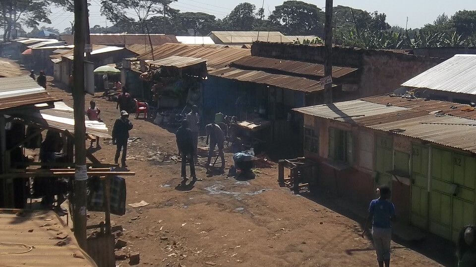 Githogoro, a slum in Nairobi home to people known as the extreme poor living on 1.40 british pounds a day