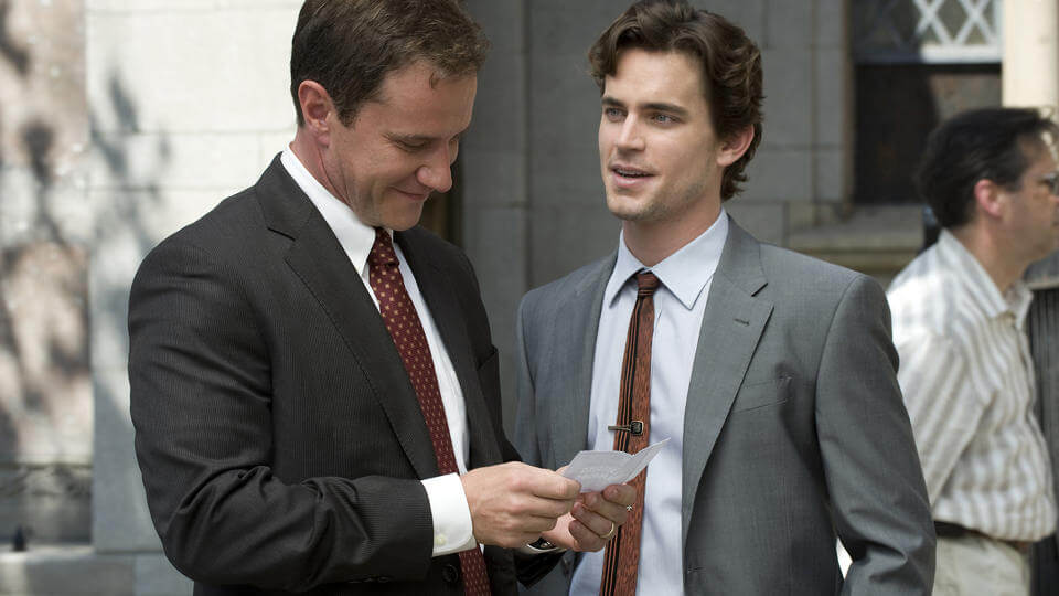 the TV series White Collar has conman Neal Caffrey working with FBI agent Peter Burk form a highly successful team solving difficult crimes